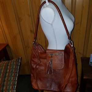 NEW  IMPORTED BROWN LEATHER SHOULDER BAG CROSSBODY